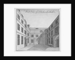 West view of courtyard in Blackwell Hall, City of London by Anonymous