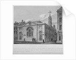 North-east view of the Church of St Botolph Aldersgate, City of London by