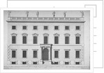 Elevation of the west front of the Rolls Office, Chancery Lane, City of London by Hendrick Hulsbergh