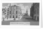 Christ's Hospital with Christ Church in the background, City of London by Taylor