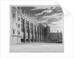 View of the hall, Christ's Hospital, City of London by Henry Shaw