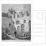 Ruins of the Church of St Clare Minoressess without Aldgate, City of London by John Thomas Smith