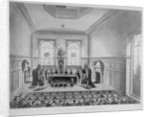 Drawing of the state lottery taking place in Coopers' Hall, City of London by Anonymous