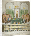 Lottery draw, Coopers' Hall, City of London by W Charles