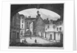 View of the Doctors' Commons entrance from St Paul's churchyard, City of London by
