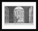 View through the gateway of the Royal College of Physicians, City of London by