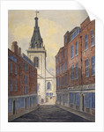 Church of St Edmund the King viewed from Clement's Lane, City of London by Anonymous