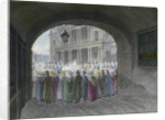 View of the entrance to Dean's Court, City of London by Robert Blemmell Schnebbelie