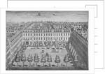 Bird's-eye view of Devonshire Square, City of London by Sutton Nicholls
