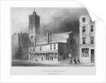 View of St Dionis Backchurch from Fenchurch Street, City of London by Albert Henry Payne