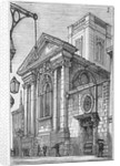View of the east end of St Dionis Backchurch from Lime Street, City of London by Anonymous