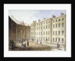 View of Fleet Prison from the tennis ground, City of London by