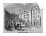 View of Fleet Prison and the tennis ground, City of London by