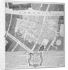 Plan of buildings destroyed in Cornhill by fire which began in Exchange Alley March 25th by Anonymous
