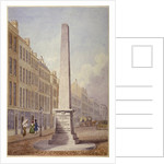 Monument at the junction of Farringdon Street and Fleet Street, City of London by James Elmes