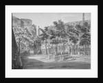 Churchyard, Fenchurch Street, City of London by Robert Blemmell Schnebbelie