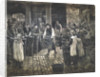 Covent Garden Scene - Women Workers Standing by Francis William Lawson