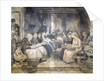 Covent Garden Scene - Women Workers Seated by Francis William Lawson
