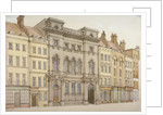 Buildings on the south side of Fleet Street, looking towards Temple Bar, City of London by