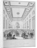 Interior of Grocers' Hall during a banquet, City of London by T Kearnan