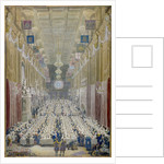 View of the Lord Mayor's Dinner at the Guildhall, City of London by George Scharf