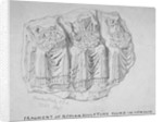 Fragment of Roman sculpture found in Hart Street, Crutched Friars, City of London by Charles Baily