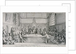 Meeting in the Guildhall Council Chamber, City of London by Hubert Francois Gravelot