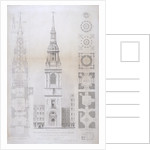 Church of St Mary le Bow, City of London by John Le Keux