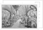 The Guildhall Crypt on the occasion of a state visit by Queen Victoria, City of London by John Abraham Mason