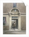 View of Dr Johnson's door and staircase, Inner Temple Lane, City of London by
