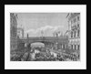 A procession in Farringdon Street passing under Holborn Viaduct, City of London by