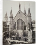 The east end of the Guildhall, from Basinghall Street, City of London by Anonymous