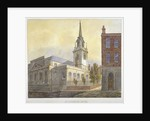 Church of St Lawrence Jewry from Guildhall Yard, City of London by William Pearson
