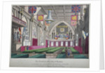Interior view of the Guildhall decorated for the Reform Festival, City of London by