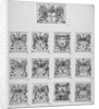 Arms of the twelve chief City Livery Companies surmounted by the arms of the City of London by Wenceslaus Hollar