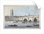 Old London Bridge by Joseph Constantine Stadler