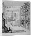 Interior view of Charles Roach Smith's museum in Liverpool Street, City of London by John Brown