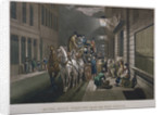 Mail coach outside the General Post Office, Lombard Street, City of London by Charles Hunt