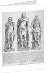 Mutilated figures of the mythical King Lud and his two sons Androgeus and Theomantius by John Thomas Smith