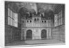 Interior view of Leathersellers' Hall, Little St Helen's, City of London by James Peller Malcolm