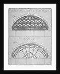 Two elevations of the centre of the Great Arch, London Bridge by