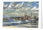 Low tide, Deptford by RCD Lowry