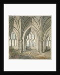 Interior of the crypt under St Thomas Chapel, London Bridge by Anonymous