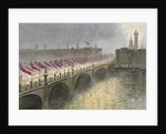 View of London Bridge on the night of the arrival of the Princess Alexandra of Denmark, 1863 by Maul