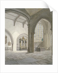Interior south-west view of the Church of St Helen, Bishopsgate, City of London by Frederick Nash