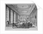 Interior of the boardroom with board members, College of Physicians, City of London by