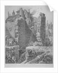 Inside view of the Watch Tower and remains of London Wall, City of London by