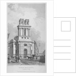 Church of St Mary Woolnoth, City of London by John Le Keux