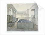 Interior view of the chapel in Newgate Prison, Old Bailey, City of London by Frederick Nash