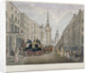 The Cambridge coach leaving the Nelson Inn, Belle Sauvage Yard, Ludgate Hill, London by